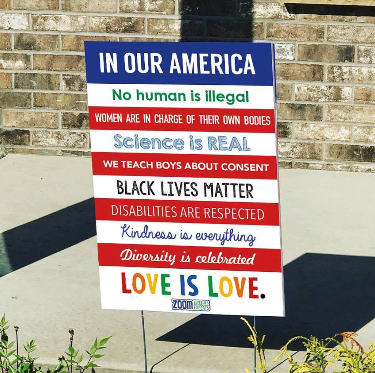In Our America Lawn Sign